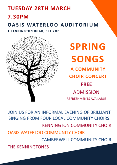 Choir concert Oasis 28 March 2017